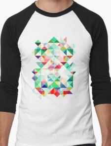 Rainbow Prism Men's Baseball ¾ T-Shirt