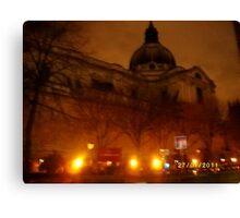 London: Famous Buildings: Holy Trinity Church, Brompton -(270111)- Praktica DPix 1000z 10MP Canvas Print