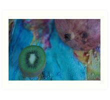 pomegranate and kiwi Art Print