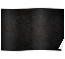 Dark black leather sheet texture Poster