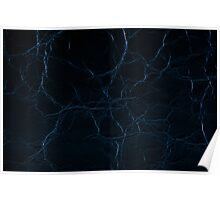 Dark blue leather texture abstract Poster