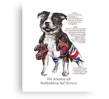 Staffordshire Bull Terrier History Canvas Print