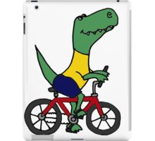 Cute T-Rex Dinosaur Riding Red Bicycle iPad Case/Skin