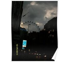 London: Famous Sights: London Eye -(270111)- Digital photo Poster