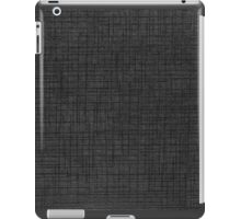 Grey striped parchment texture abstracts iPad Case/Skin