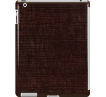 Dark brown striped parchment abstract iPad Case/Skin