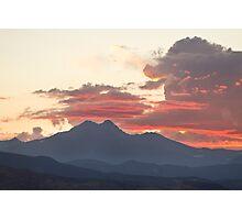 Twin Peaks Longs Meeker August Sunset 2 Photographic Print