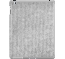 Grey striped parchment texture abstract iPad Case/Skin