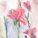 Wet on wet flowers by acquart