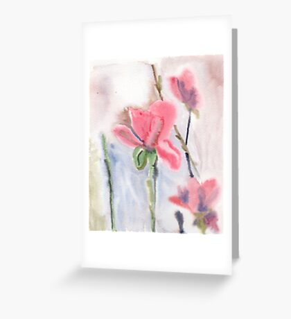 Wet on wet flowers Greeting Card