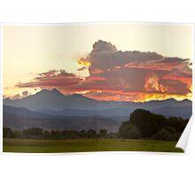 Twin Peaks Longs Meeker August Sunset 3 Poster