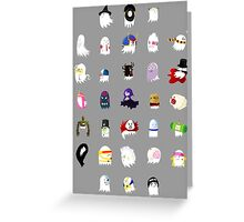 Ghost Halloween Party Greeting Card