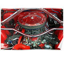 Ford Mustang Engine Bay Poster