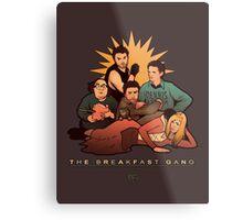 The Breakfast Gang Metal Print
