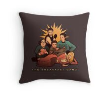 The Breakfast Gang Throw Pillow