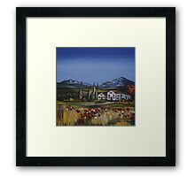 House in the Country Framed Print