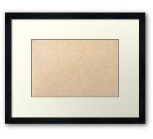 Ecru pattern parchment texture Framed Print