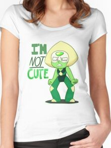 I'M NOT CUTE Women's Fitted Scoop T-Shirt