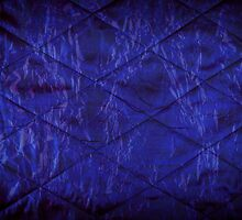 Blue quilted texture abstract  by Arletta Cwalina