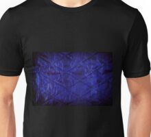 Blue quilted texture abstract  Unisex T-Shirt