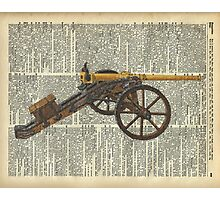 Old canon Dictionary Art Photographic Print