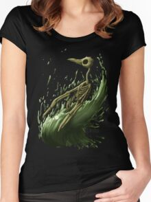 Death Penguin Women's Fitted Scoop T-Shirt
