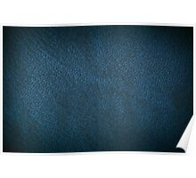 Navy leather texture abstract Poster