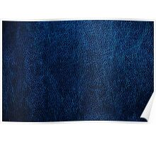 Dark blue glossy leather texture  Poster