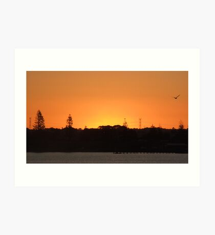 southern sunset sky Art Print
