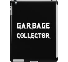 Garbage Collector - Metal Style Design for Programmers White Font iPad Case/Skin