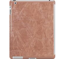 Brown canvas cloth texture abstract iPad Case/Skin