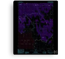 USGS Topo Map California Sagebrush Butte 294896 1988 24000 Inverted Canvas Print