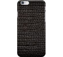 Black knitted fabric texture  iPhone Case/Skin
