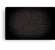 Black knitted fabric texture  Canvas Print