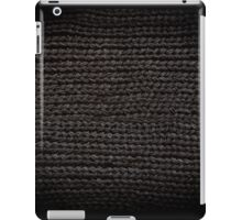Black knitted fabric texture  iPad Case/Skin