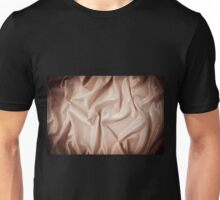 Beige glossy crumpled satin surface  Unisex T-Shirt