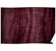 Burgundy grunge cloth texture Poster
