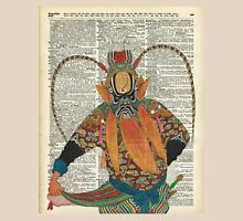 Pekin Opera Chinese costume Over a Old Dictionary Page Unisex T-Shirt