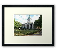 London: Famous Buildings: Imperial War Museum -(120511)- Digital photo Framed Print
