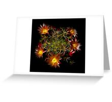 Flowers Of Flames Greeting Card