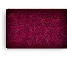 Maroon grunge leather sheet texture Canvas Print