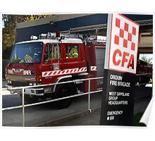 Drouin Fire Brigade on the move Poster