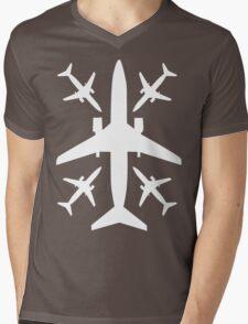 The Plane Mens V-Neck T-Shirt