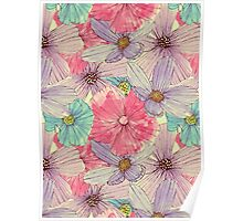 Watercolour Flowers Poster
