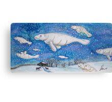 Flight of the manatees Canvas Print
