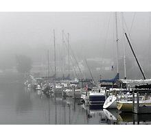 Foggy Harbor Photographic Print