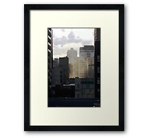 Layered City Framed Print