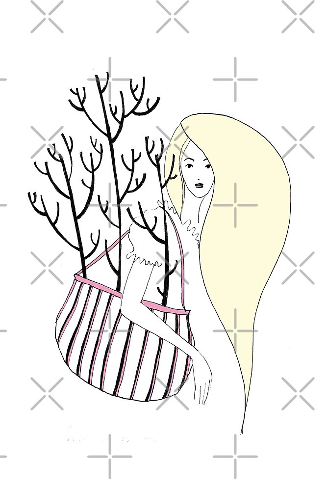Trees in Her Bag by Aleksandra Kabakova