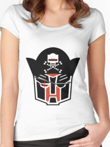 Autobot Pirate- AARGTOBOTS! ENGAGE! Women's Fitted Scoop T-Shirt