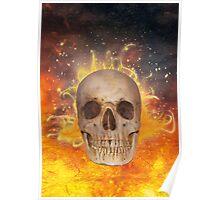 Skull on Fire Poster